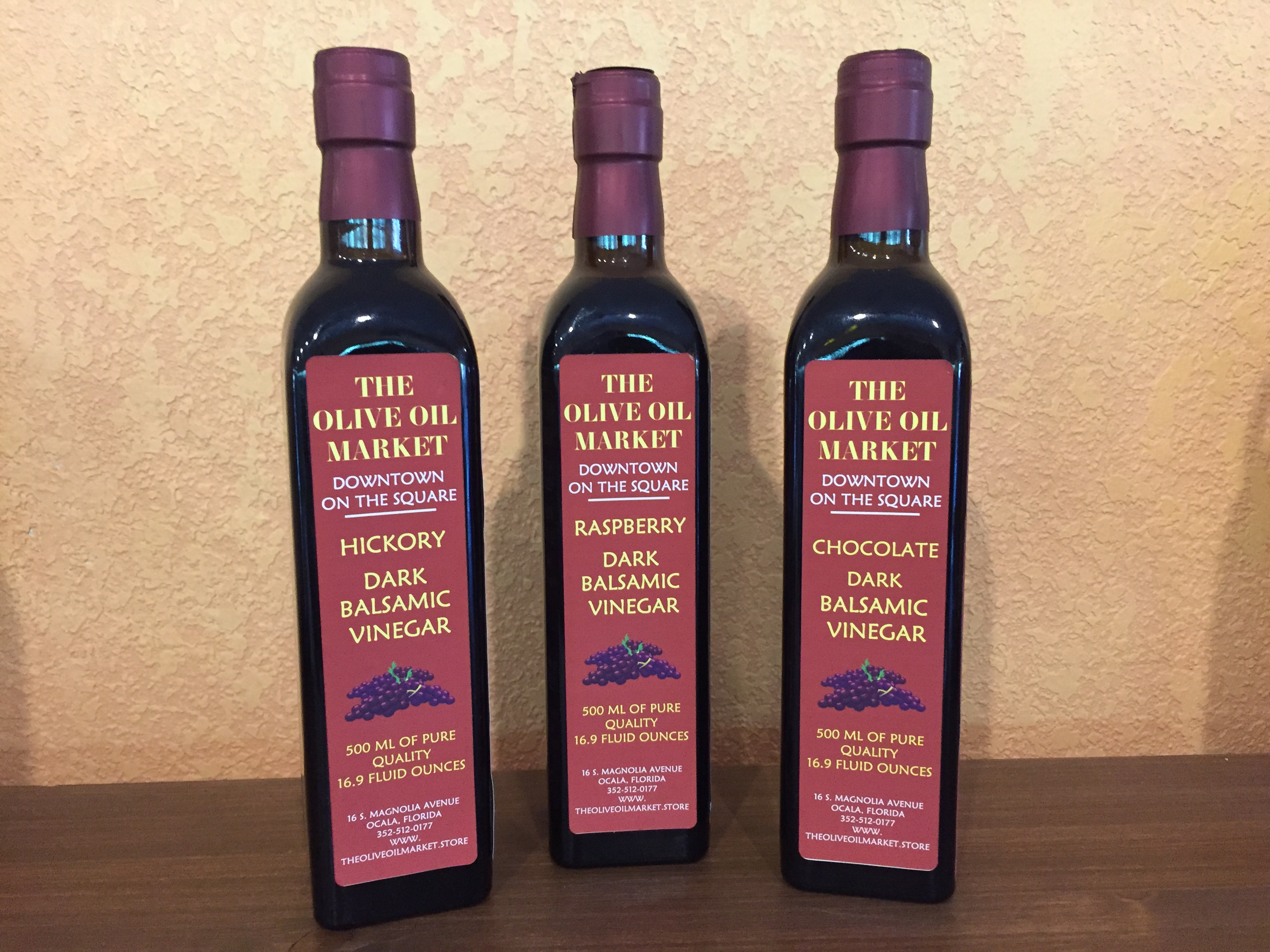 Modena Flavored Dark Balsamic Vinegars
